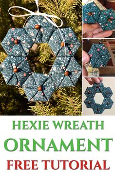 Hexie Wreath Ornament – Ornament Along #1 – Mister Domestic