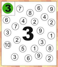 Kindergarten Coloring Pages, Numbers Kindergarten, Numbers Preschool, Fall Preschool Activities, Preschool Lessons, Preschool Math, All About Me Preschool, Math For Kids, Kindergarten Math Worksheets