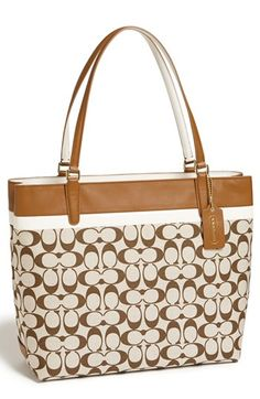 COACH 'Signature - Small' Tote available at #Nordstrom