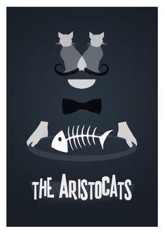 Disney's The Aristocats Minimalist Poster by rowansm on Etsy, $22.00