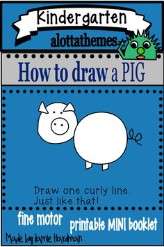 This activity is a fun and engaging hands on activity practicing those fine motor skills. Who doesn't want to learn how to draw a pig! I know my students had fun during our farm unit. Drawing Activities, Motor Activities, Hands On Activities, Kindergarten Classroom, Kindergarten Activities, Farm Unit, Thematic Units, Farm Theme, March 21