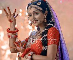 Radha Krishna Love Quotes, Radha Krishna Photo, Krishna Photos, Krishna Pictures, Bridal Portrait Poses, Flower Art Drawing, Radha Krishna Wallpaper, Radha Rani, Art Drawings