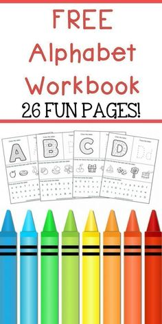 - The Relaxed Homeschool-FREE ABC Workbook! – The Relaxed Homeschool Alphabet Workbook for teaching children their ABC's. This ABC Workbook includes 26 fun pages including phonics, letter tracing, and more! Abc Worksheets, Printable Preschool Worksheets, Free Preschool, Preschool Curriculum, Preschool Classroom, Free Alphabet Printables, Kindergarten Science, Classroom Decor, Toddler Learning Activities