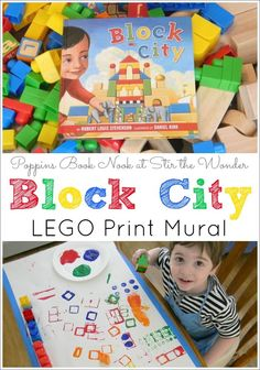 Read Block City by Robert Louis Stevenson to inspire kids to create a LEGO Print Mural!