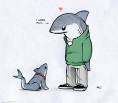 Lanny and Shark Puppy by RobtheDoodler.deviantart.com on @deviantART