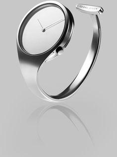 Georg Jensen Stainless Steel Bangle Watch in Silver (steel) | Lyst
