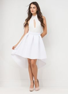 Full Circle High-Low Scuba Skirt #skirt #scuba #highlow #gojane