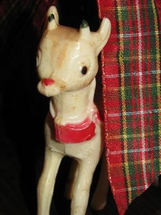 Vintage 1950's Rudolph The Red Nose Reindeer by TheIDconnection, $12.00  Vintage 1950's Rudolph The Red Nose Reindeer http://TheIDconnection.etsy.com antique Americana retro 50's X-Mas  http://etsy.me/rTyaQD via @Etsy