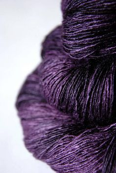 This is a variegated saturated bluish purple with dark, almost black regions. All listed skeins are of the same dye lot. 100% Silk yardage per 100g: 760 yds.(695m) listing skein size: 100 gram => 760 yds.(695m) (Tussah silk) Heavy Lace – Light Fingering You get a very soft and