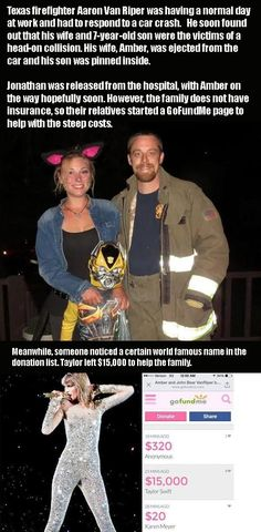 Taylor Swift Helps A Firefighter In Need  2 Pics