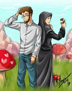 Anime Muslim Couples Cute