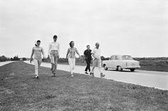 Jackie, Lee and friends, February 1963 Palm Beach.