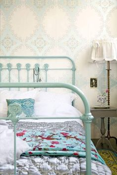 Adorable Paris Decor For Bedroom : Chic Paris Decor for Bedroom – Better Home and Garden- girls room Paris Rooms, Paris Bedroom, Bedroom Decor, Master Bedroom, Rod Iron Beds, Cast Iron Beds, Wrought Iron Beds, Metal Beds, Affordable Home Decor