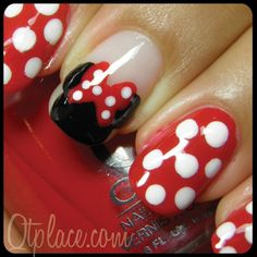 Minnie Mouse Manicure