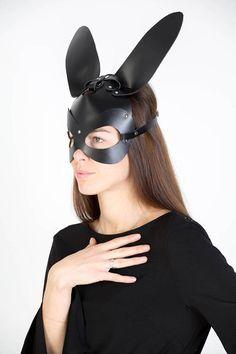Leather mask rabbit for woman Rabbit Mask BDSM Item Gift