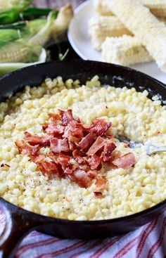Country Fried Skillet Corn with bacon.