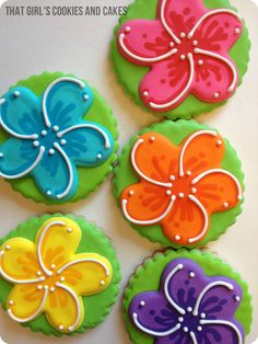 Plumeria Cookies - That Girl's Cookies and Cakes