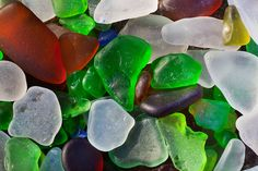 Glass Ground by Surf at Fort Bragg's Glass Beach by Lee Rentz, via Flickr