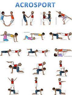 opdracht beweegeiland: acrobatie per 2 (makkelijk)