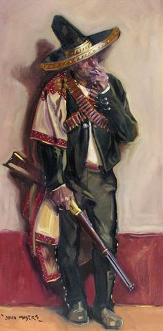 Shop portrait paintings and other fine paintings from the world's best art galleries. John Moyer, Hyung Tae Kim, Westerns, Military Drawings, Medieval World, New West, Cowboy Art, Chicano Art, Southwest Art