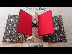 Today sharing a tutorial video of pop-up page. It is having two pop-up in. 3d Templates, Pop Up Card Templates, Handmade Scrapbook, Scrapbook Cards, Scrapbooking Layouts, Scrapbook Quotes, Fancy Fold Cards, Folded Cards, Mini Scrapbook Albums