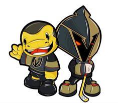 Las Vegas Knights, Vegas Golden Knights Logo, Golden Knights Hockey, Hockey Logos, Hockey Teams, Cartoon Styles, Cartoon Art, Hockey Boards, Buckeyes Football