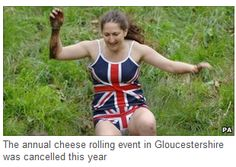 More cheese rolling