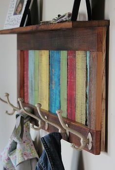reclaimed pallet wood coat hook and shelf, cleaning tips, pallet, shelving ideas, woodworking projects