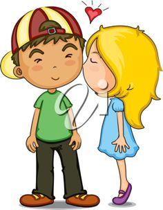 kids kissing cheek