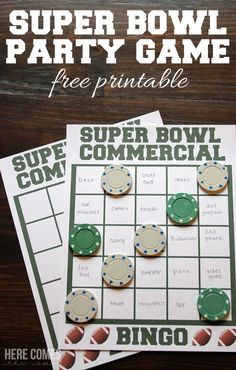 Super Bowl Party Game: Commercial Bingo | Sugar Bee Crafts | Bloglovin'