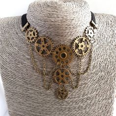 Simple yet elegant Steampunk/Neo-Victorian necklace by JewelryClaire