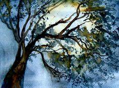 Fine art print of my original watercolor by WindingRoadGallery, $15.00