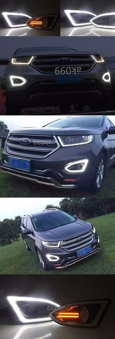 Motors Parts And Accessories  Pair Led Drl Fog Lights Daytime Running Lamp For Ford