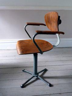 Vintage Mid-Century Architects Chair by OrmstonSaintUK on Etsy