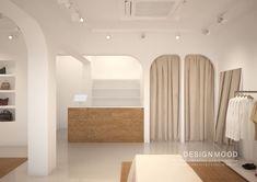 Arch Interior, Cafe Interior, Shop Interior Design, House Design, Clothing Store Design, Modern Store, Counter Design, Boutique Interior, Beauty Room