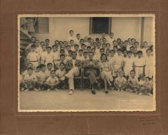 A photo of a school class. Signed: 'Ch. Kokkinos, Syros'. Syros, Greece, 1954. Courtesy Peloponnesian Folklore Foundation, all rights reserved.