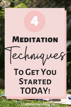 If you want to learn to meditate this is the post for you! Learn the 4 basic meditation techniques to get you started. Trust me it's not hard and you will thank yourself for starting. Read on to find out more. How To Start Meditating, Learn To Meditate, Mindfulness Meditation, Negative Self Talk, Negative Thoughts, Basic Meditation, Meditation Techniques For Beginners, Coaching