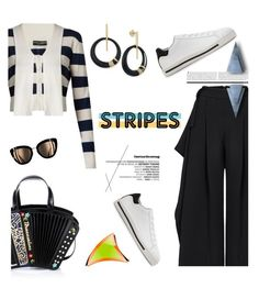 """Big, Bold Stripes"" by slavicabojanovic ❤ liked on Polyvore featuring Braccialini, Maticevski, Dolce&Gabbana, Alexis Bittar and BoldStripes"