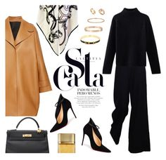 """""""Champs-Élysées"""" by stellaasteria ❤ liked on Polyvore featuring Rochas, Christian Louboutin, Hermès and Cartier"""