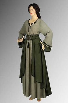 Medieval European Saxon Dress Including Chemise Skirt Handmade from Cotton | eBay