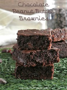 Chocolate Peanut Butter Brownies with chocolate pieces and cranberries.  Can you imagine all of those flavors in one bite?  Scrumptious!