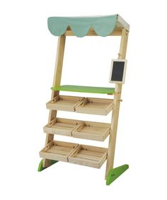 ugh if the house was ready I'd get this now..  Take a look at this Market Stall Play Set by PlanToys on #zulily today!