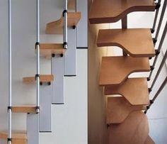 M s de 1000 ideas sobre escaleras para espacios reducidos - Escaleras para espacios pequenos ...