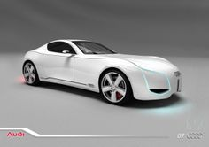 Audi D7 a sports concept car with an electric engine designed by Iranian student, read more at www.designspawn.com/audi-d7-concept