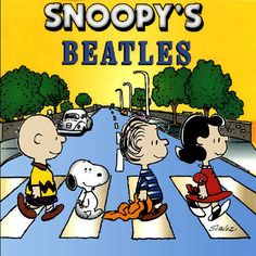 The Beatles: Abbey Road Album Cover Parodies. A list of all the groups that have released album covers that look like the The Beatles Abbey Road album. Peanuts Gang, Peanuts Movie, Peanuts Cartoon, The Peanuts, Snoopy Cartoon, Snoopy Love, Snoopy And Woodstock, Abbey Road, Charlie Brown Cartoon