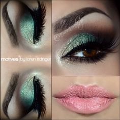 Gorgeous Makeup: Tips and Tricks With Eye Makeup and Eyeshadow – Makeup Design Ideas Turquoise Eye Makeup, Mint Makeup, Colorful Eye Makeup, Simple Makeup, Mint Eyeshadow, Eyeshadow Makeup, Eyeshadow Ideas, Eyeshadow Palette, Eye Liner