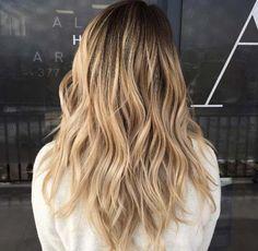 honey blonde balayage by A&R Salon