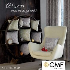Art is not what you see, but what you make others see. Apply your #Creativity and #DeckUp your #Home in your distinctive #Style. Explore more at www.gmfabrics.com #GMF #GMFabrics #Furnishings #HomeInterior #HomeFabric #HomeDecor #HomeFurnishings