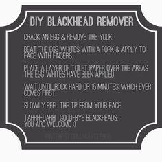 DIY Egg White Black Head Remover