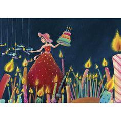 """Marie Cardouat carte postale """"Le gâteau aux bougies"""" - Arret-sur-image.eu"""